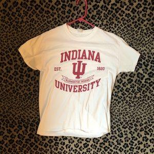 Indiana University White Short Sleeve T-Shirt